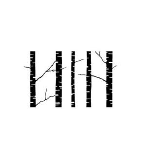 (3-F1413) Wood Stamp- Birch Trees