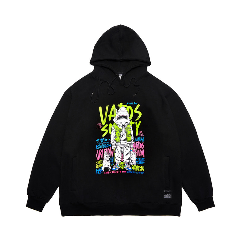 10th ANNIVERSARY OFFICIAL OVERSIZED HEAVY SWEAT HOODIE BLACK