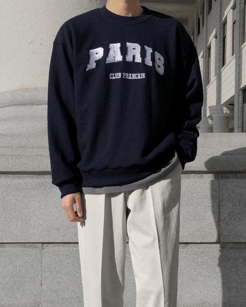 PARIS 자수 맨투맨