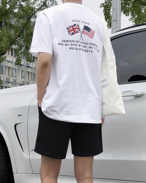 뉴욕 디자인 반팔 티셔츠