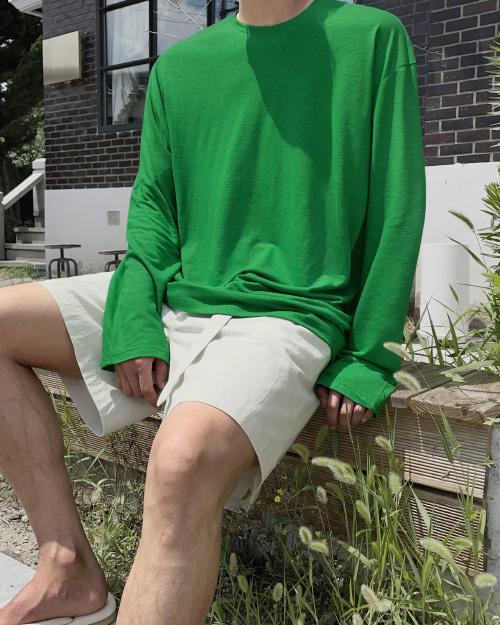 로프 린넨 슬라브 티셔츠