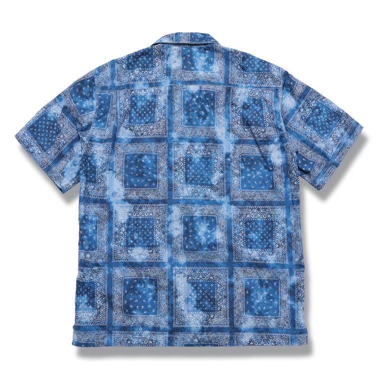 [↓45%]DV.LOT 610 Paisley Open Collar Shirts (Tie-Dye) -BLUE-