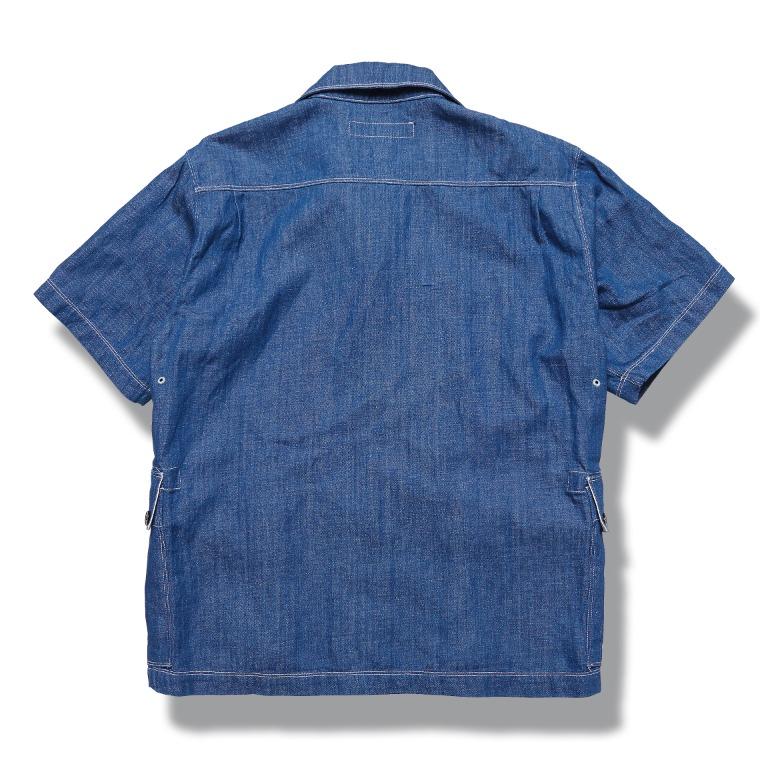 [↓30%]DV.LOT 609 Linen Denim 1/2 Shirts -INDIGO-