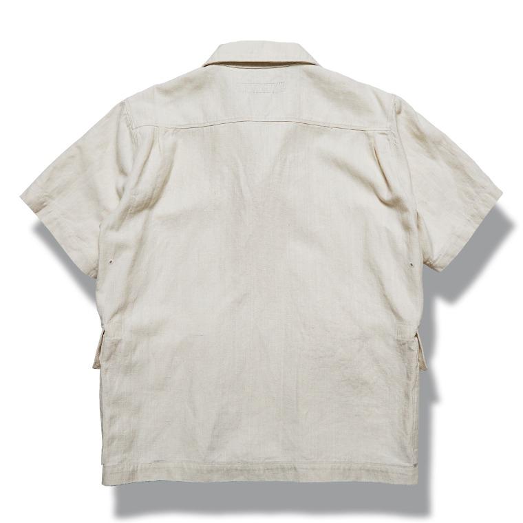 [↓30%]DV.LOT 609 Linen Denim 1/2 Shirts -ECRU-