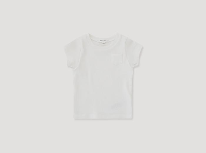 mini 세러데이 티셔츠 - 바닐라화이트