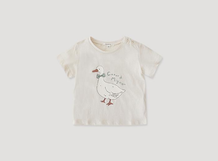mini 모이나 티셔츠 - 크림
