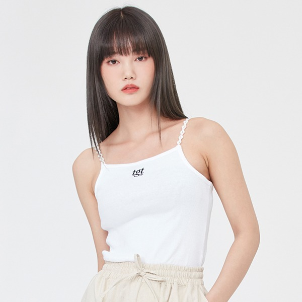 LACE TRIMMING SLEEVELESS_WHITE