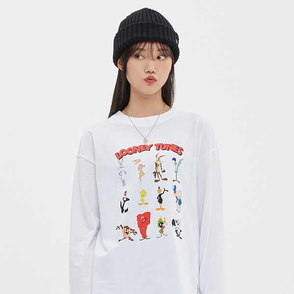 [LT X TGT]CHARACTER LONG SLEEVE_WHITE