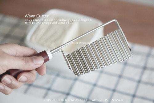 타이거크라운 웨이브 커터 모양내기 스텐레스 칼 묵칼 두부칼