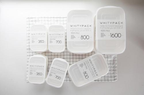 화이티팩 밀폐보관용기 - 냉장고 정리용기 밀폐용기 반찬통 사각용기 주방용품
