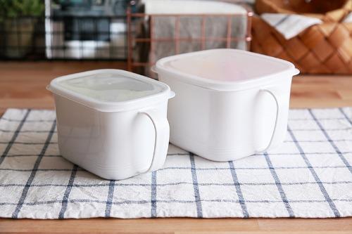 법랑st. 화이트 손잡이 찬통 밀폐보관용기 냉장고 냉동고정리용기 냉장고용기 밀폐용기
