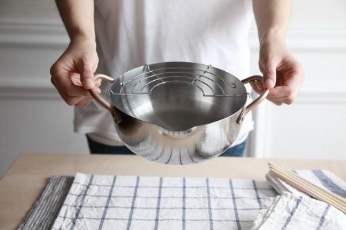 일본 올 스텐레스 튀김 냄비 2L  20cm 튀김망포함