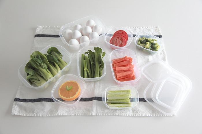 스퀘어 클리어팩 냉장 냉동 전자레인지 사용가능