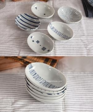 일본 가정식 미니 오벌접시