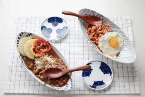 일본 BIG사이즈 오벌 플레이트 - 카레접시 샐러드 일본그릇