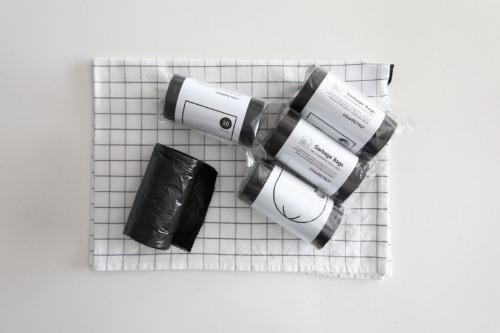 블랙 쓰레기봉투 쓰레기통 비닐봉투 비닐봉지 1롤 30장
