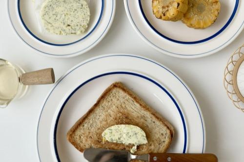 시라쿠스 정품 라인 시리즈 블루 플레이트 빈티지 접시