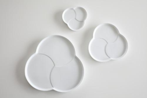 일본 토모에 구름접시 - 나눔접시 도자기 반찬그릇