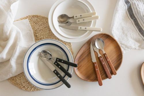 Brunch Cutlery 3P Set White Rosewood Black
