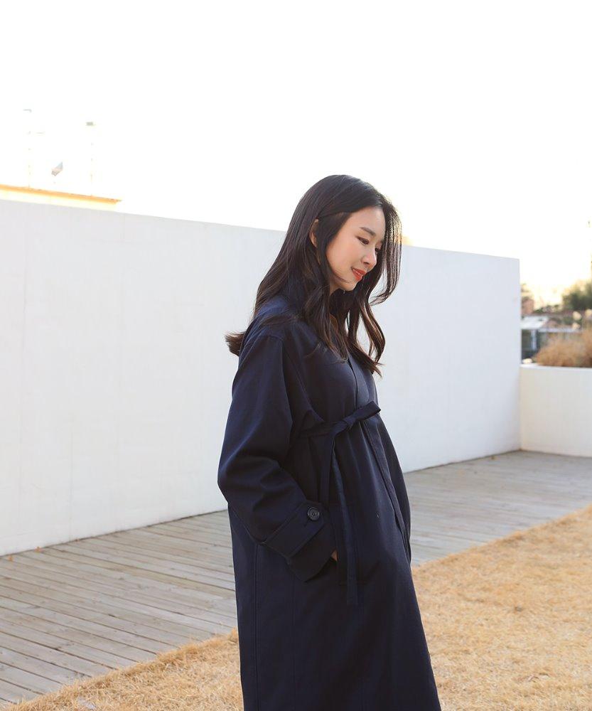 여자 한복 코트_네이비