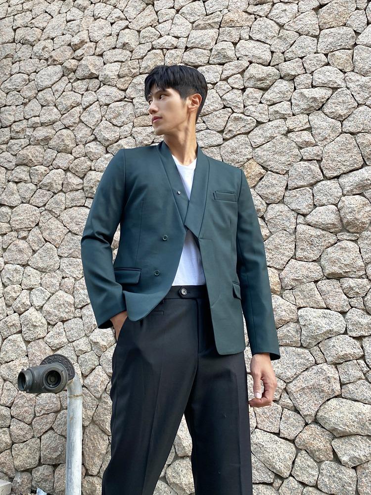 한복 깃 정장 수트 (그린)