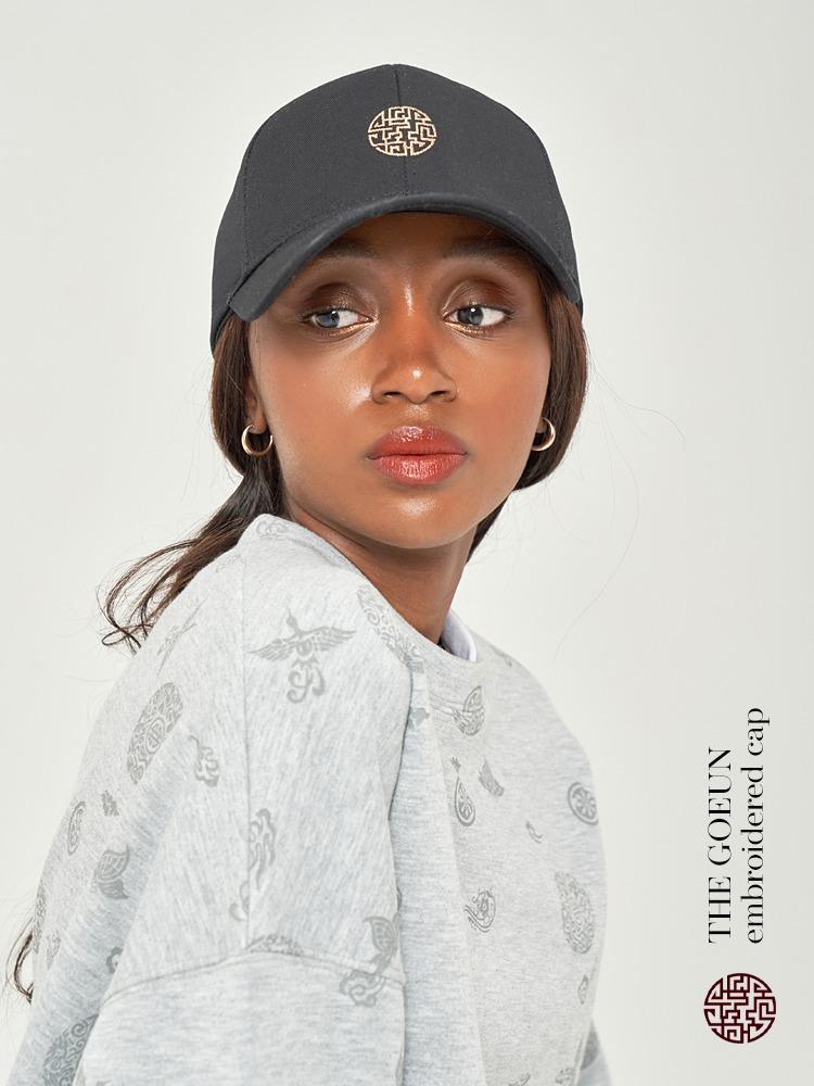 전통 자수 모자 (블랙)