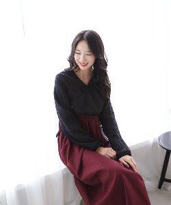 꽈배기 저고리_블랙