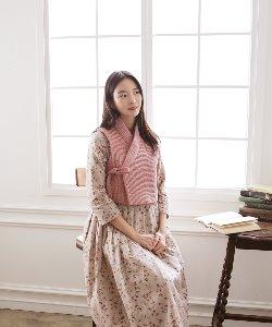 누빔 배자_핑크