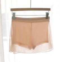 網紗裙襬拼接彈力安全褲