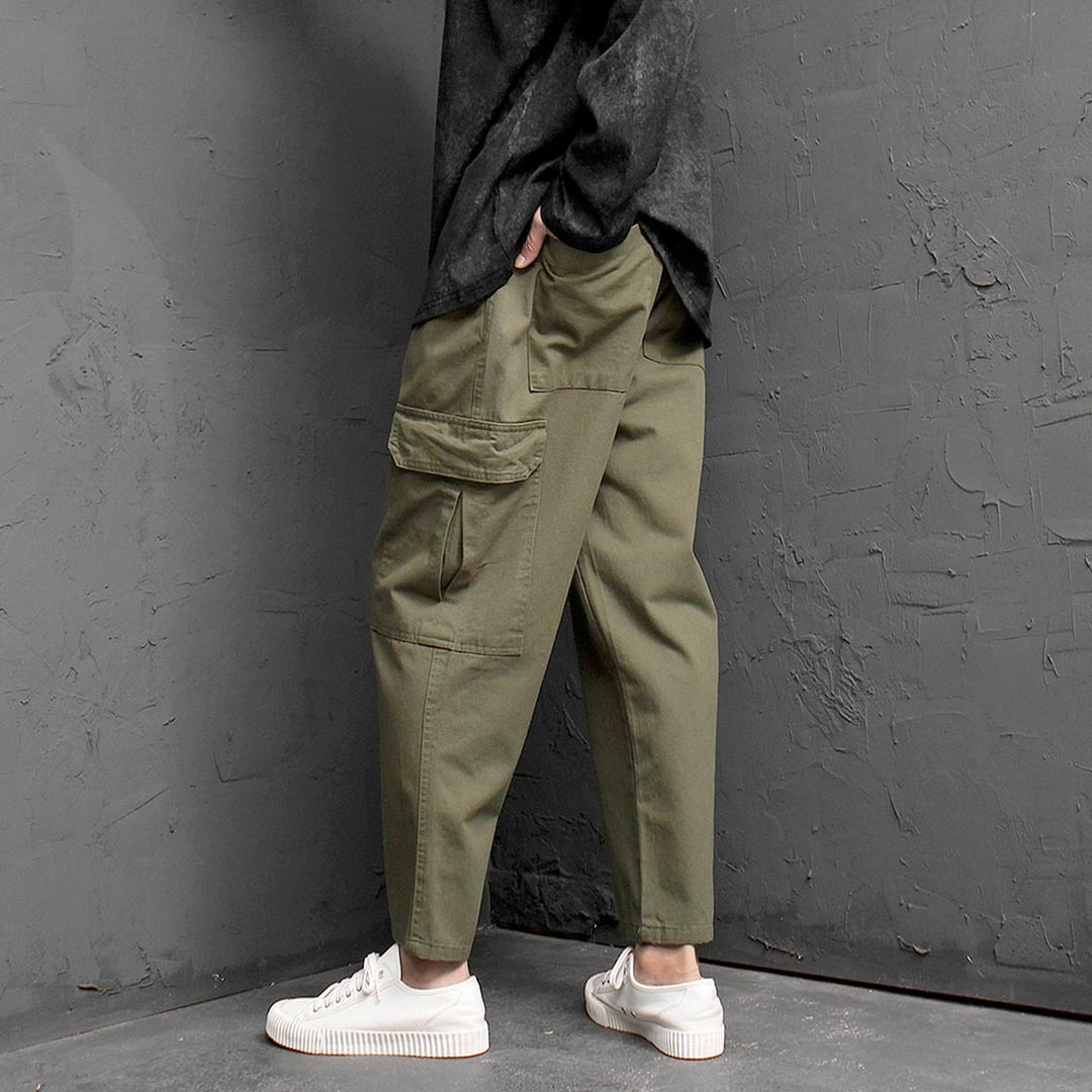 Low Crotch Wide Cargo Baggy Patns 1355