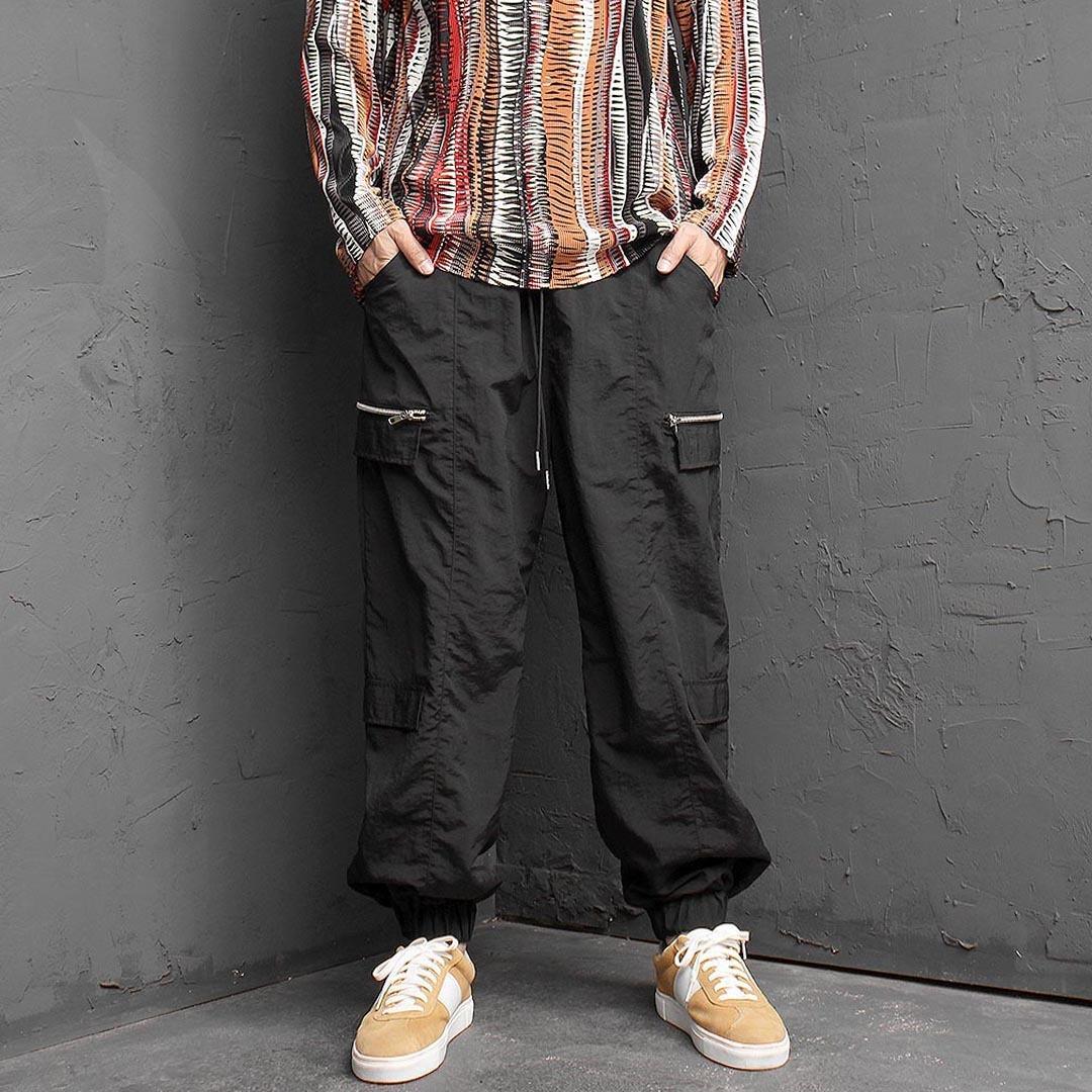 Zipper Styling Jogger Pants 1414