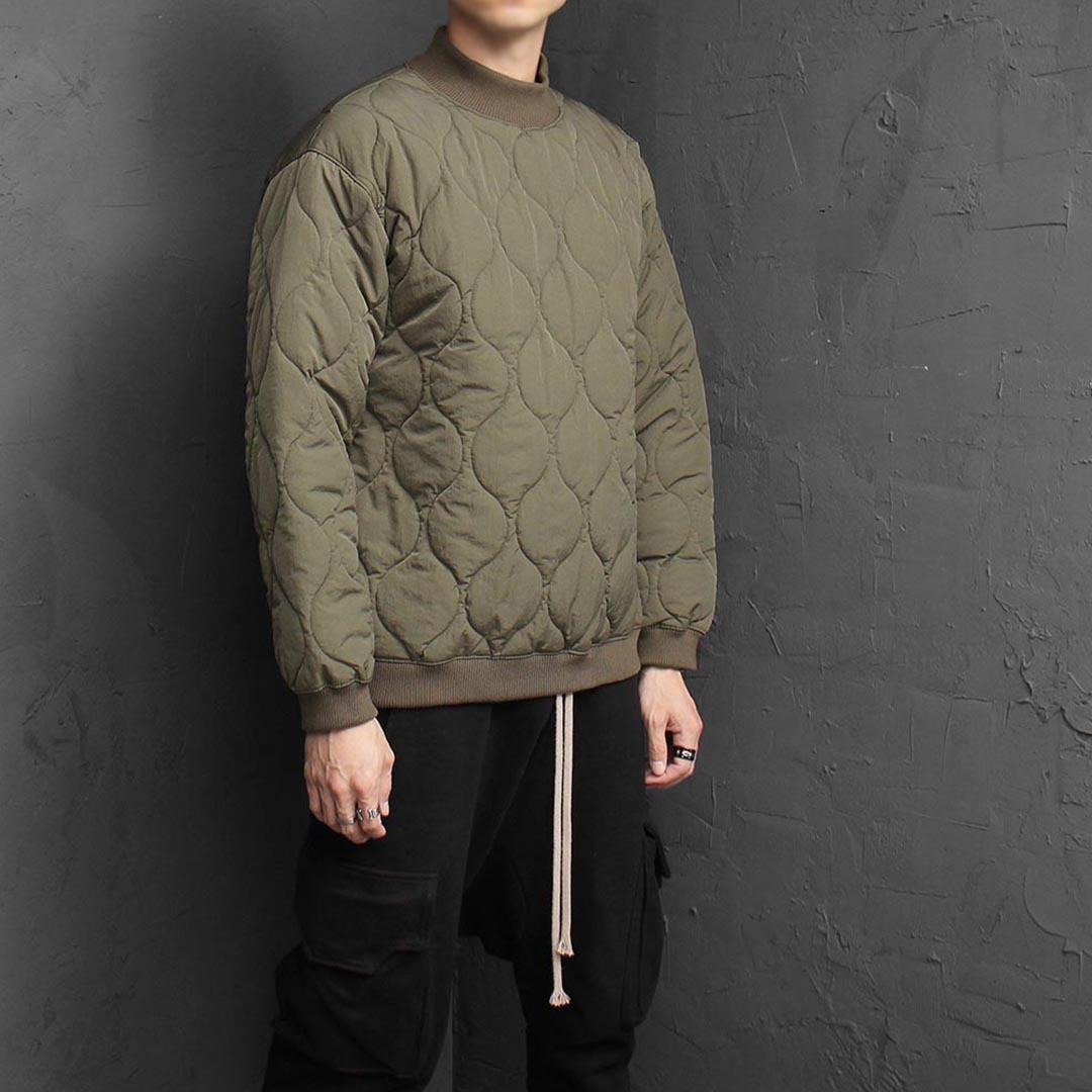 Quilting Padded Sweatshirt 1574