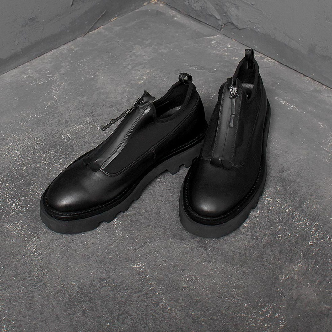 Neoprene Leather Derby Shoes 1633