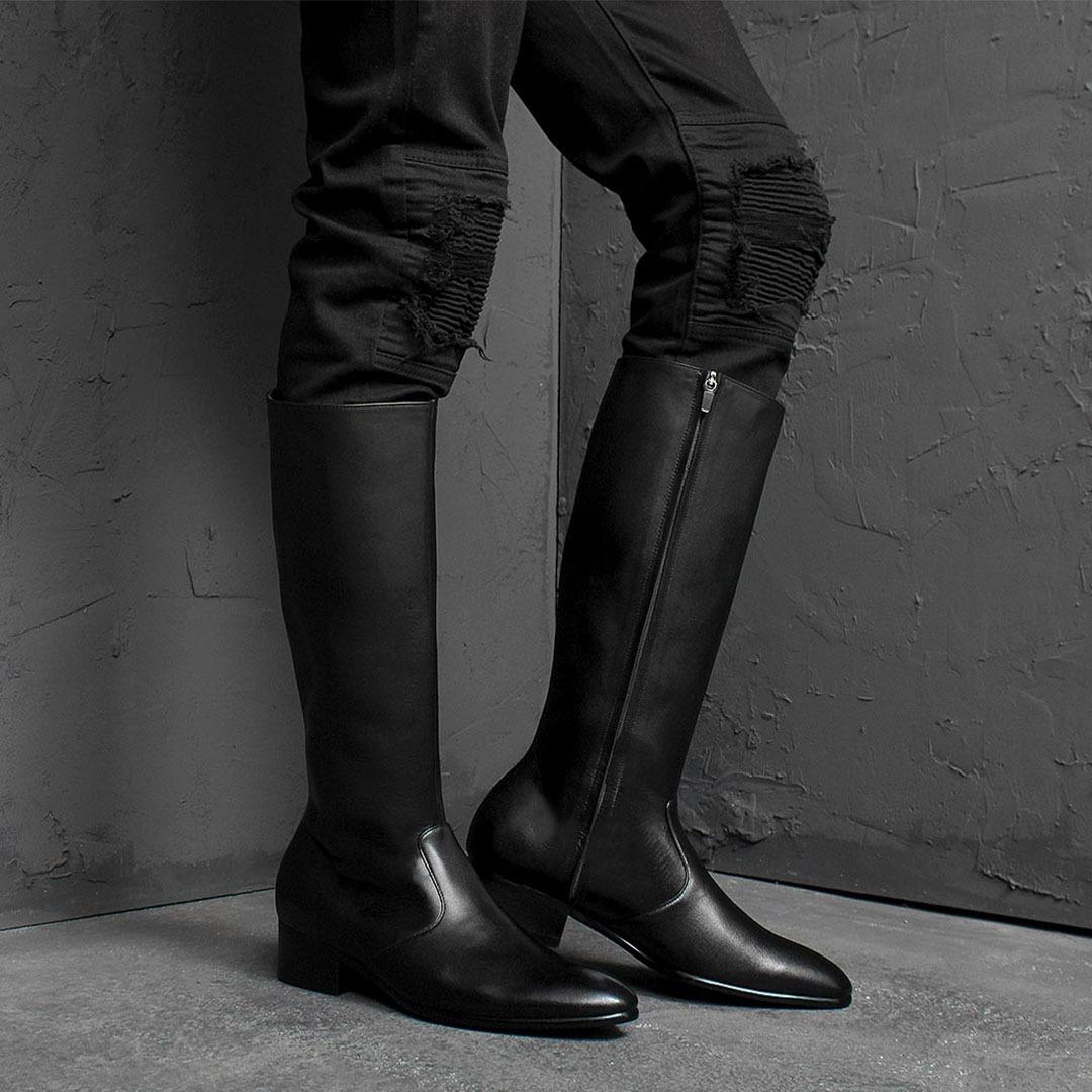 Handmade Leather Dainite Sole Long Boots 1788