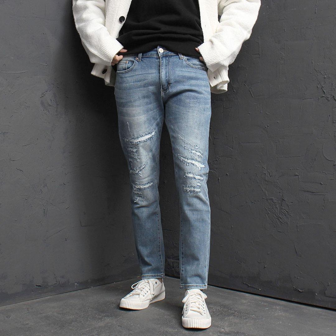 Vintage Styling Blue Skinny Jeans 1790
