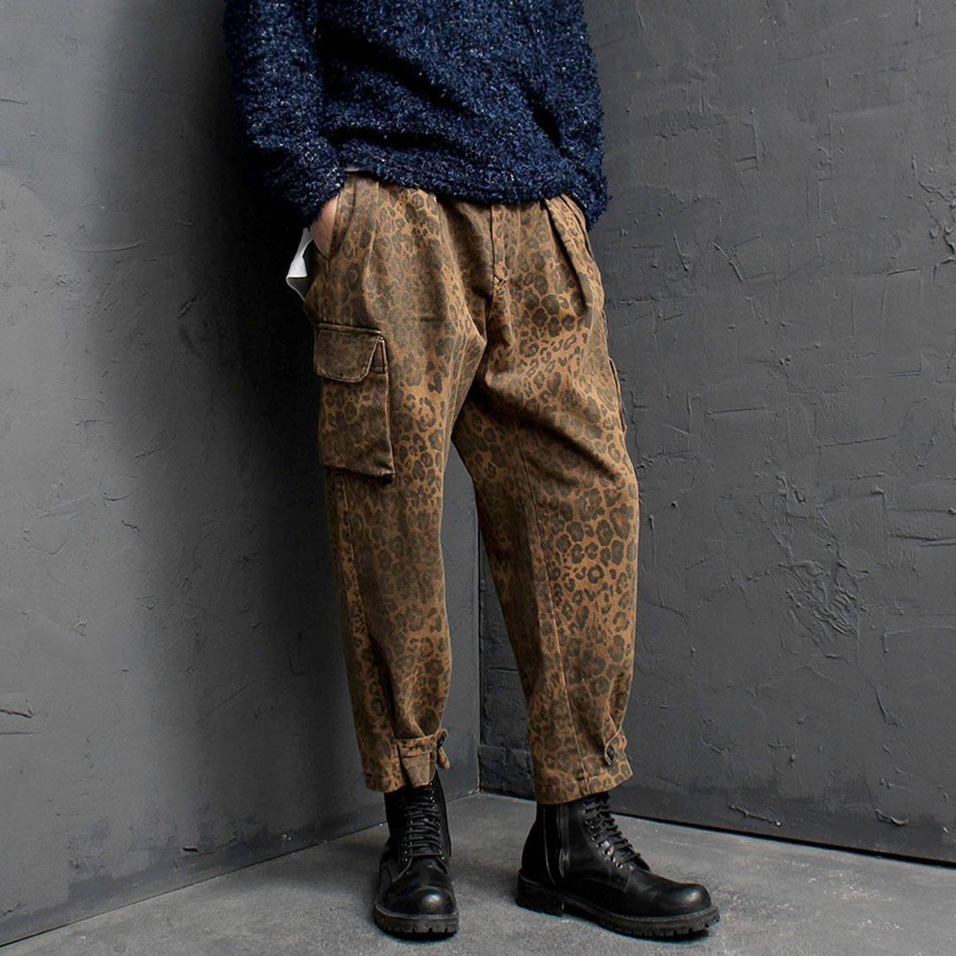 Leopard Pattern Baggy Cargo Pants 1764