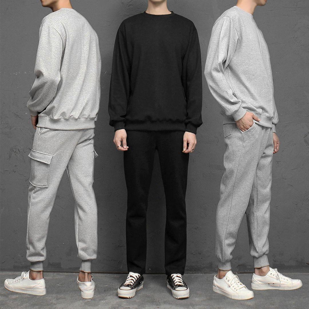 Gym Wear Set Sweatshirt Sweatpants 1875