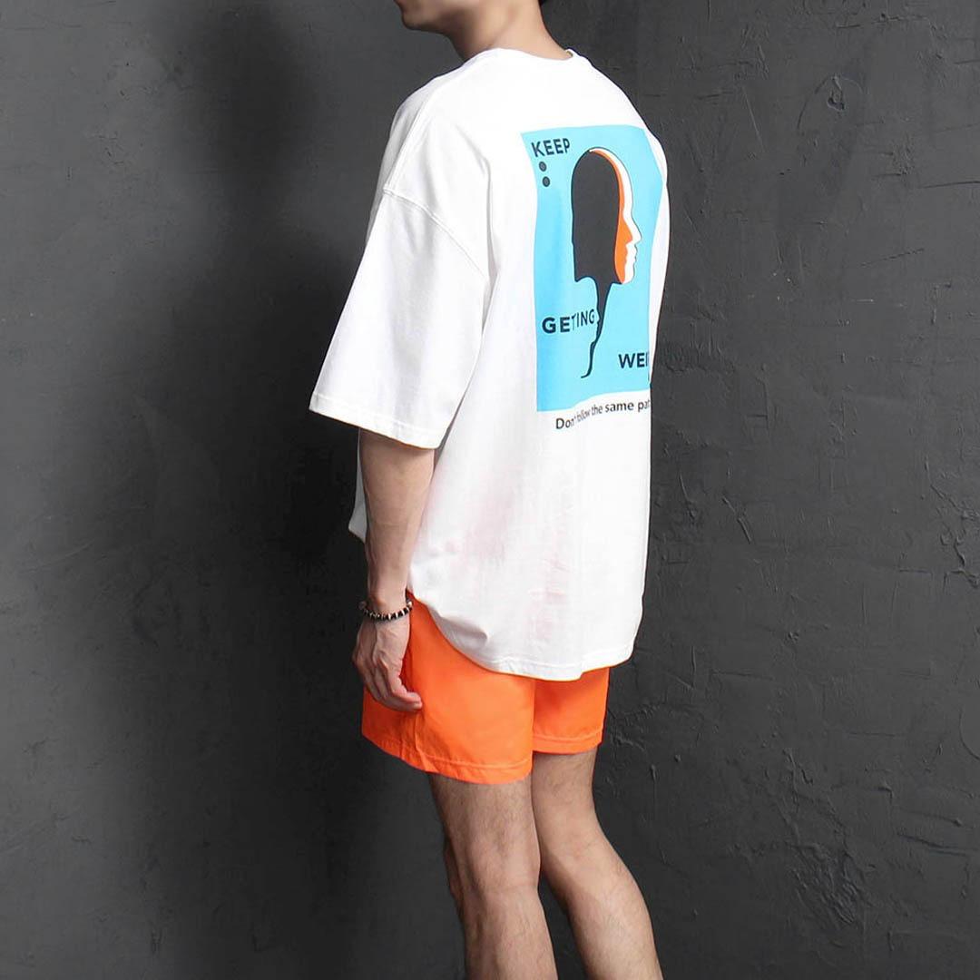 루즈핏 헤드 프린팅 티셔츠 2326