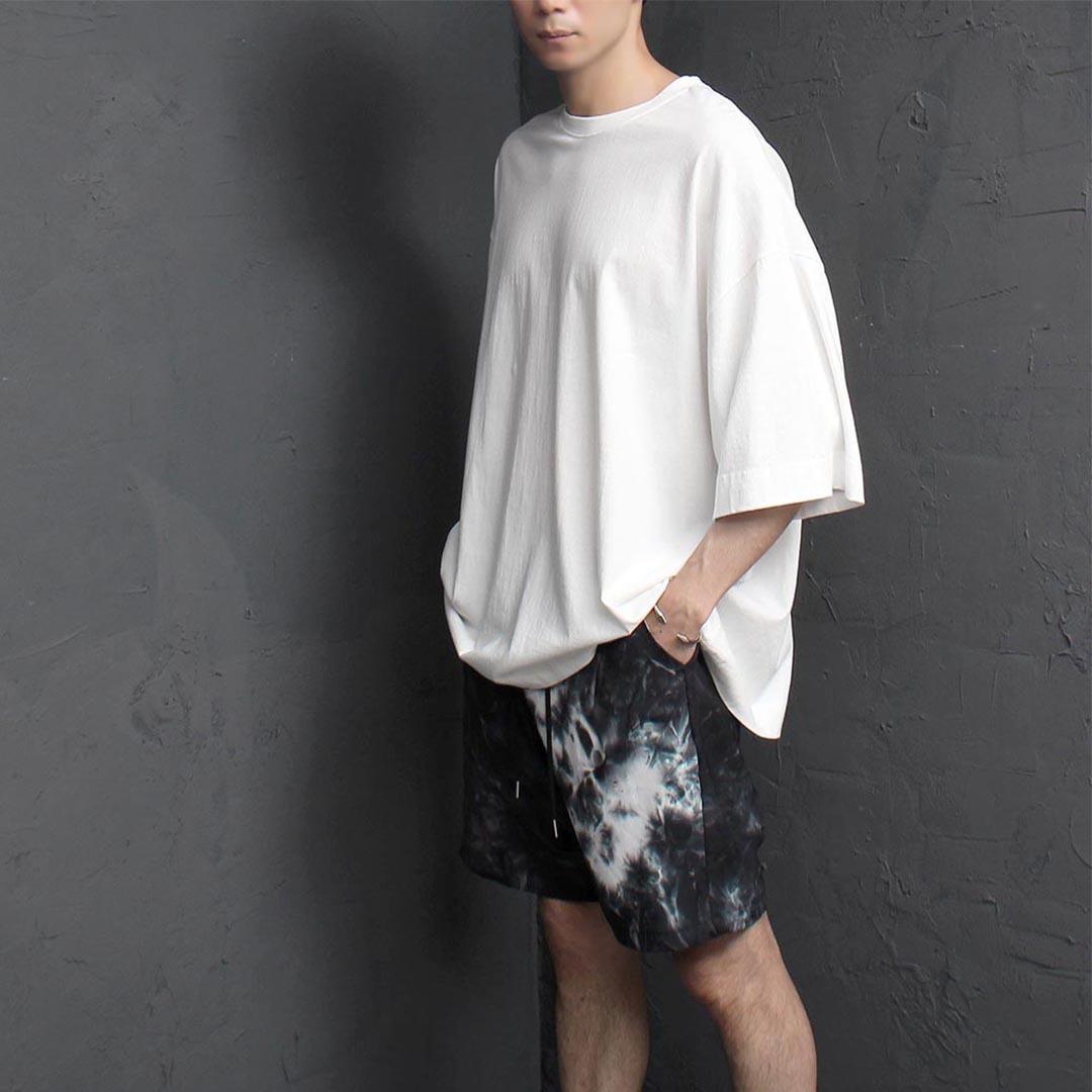 오버핏 5부 반팔 티셔츠 2393