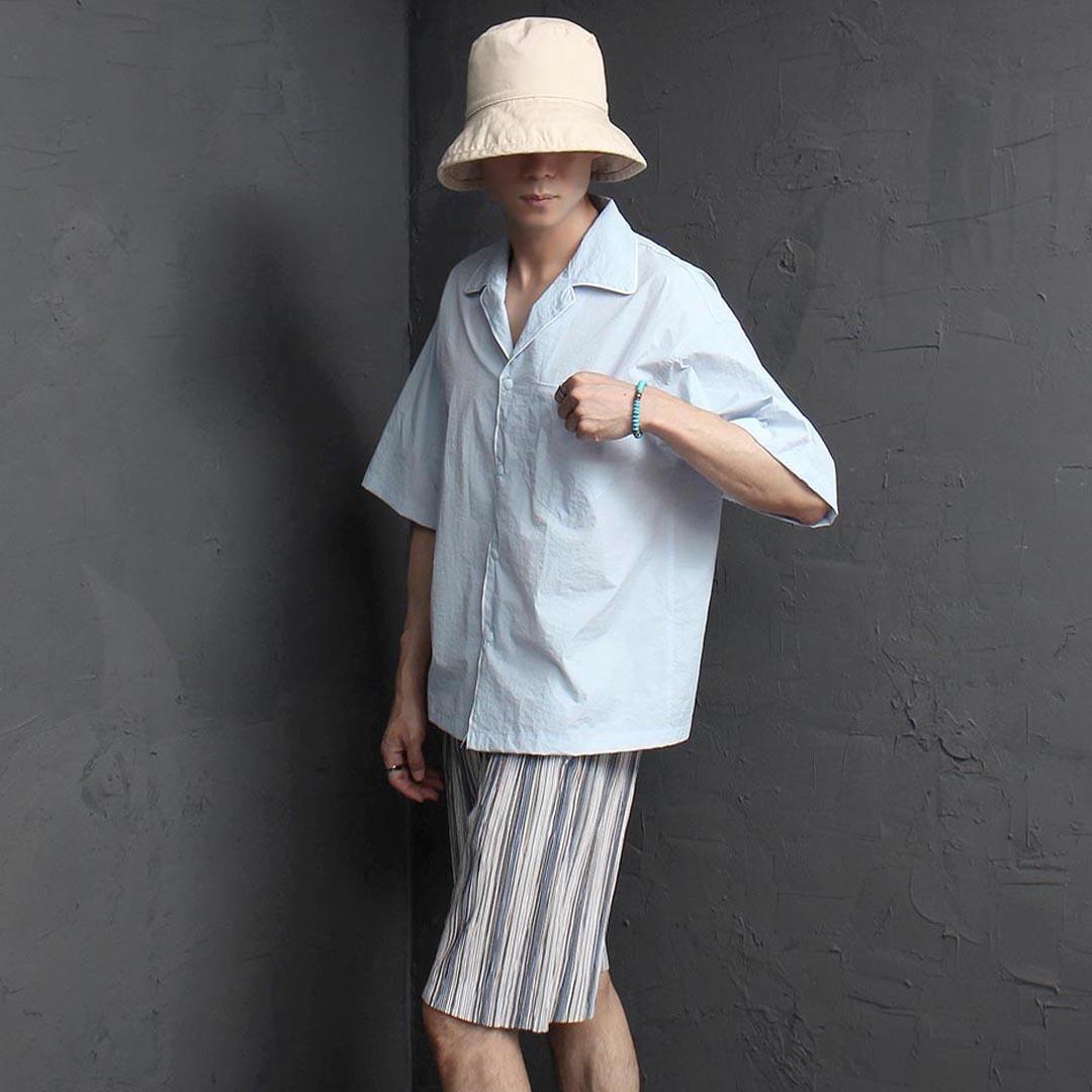 Snap Button Summer Cool Shirt 2406