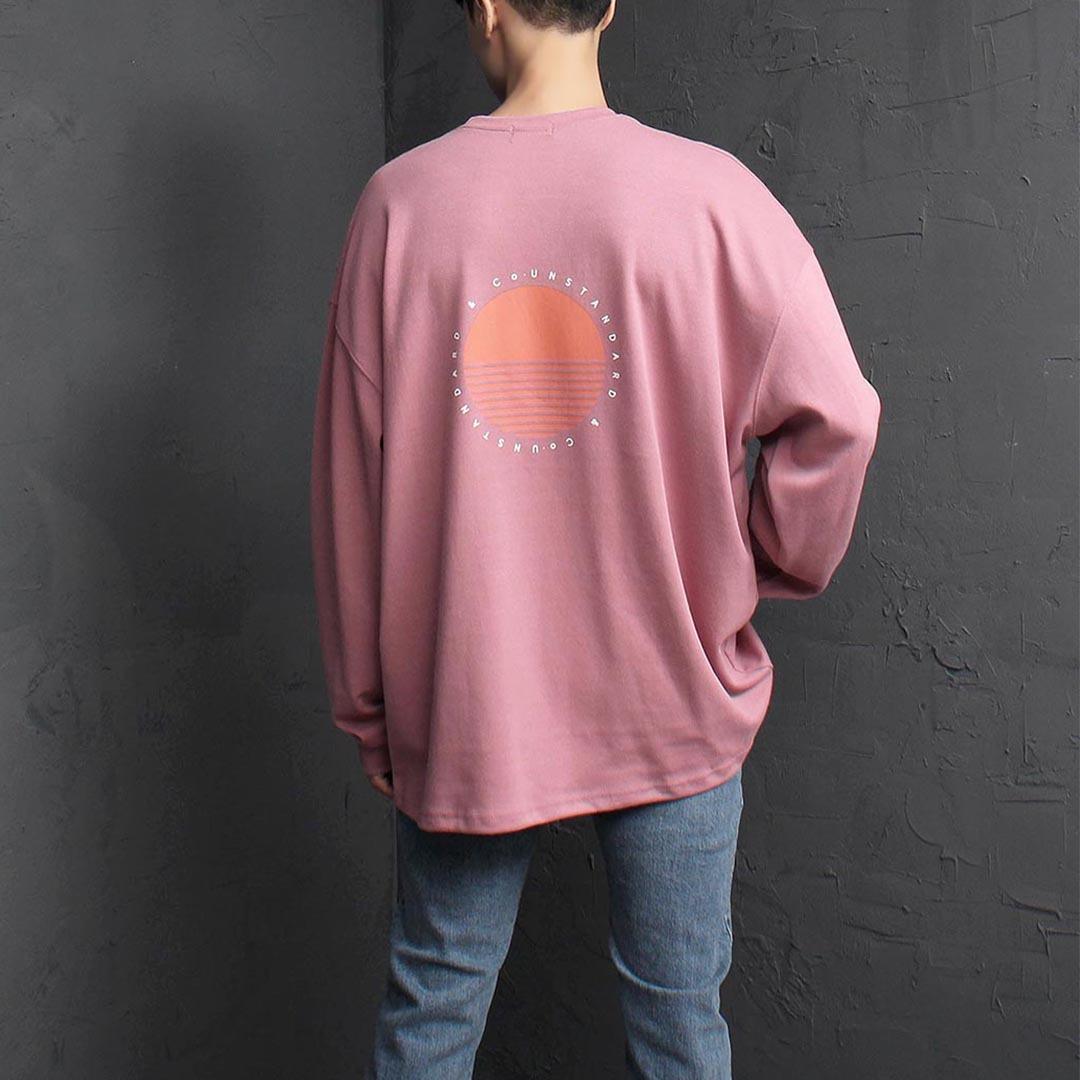 오버핏 라운드 선셋 티셔츠 2518