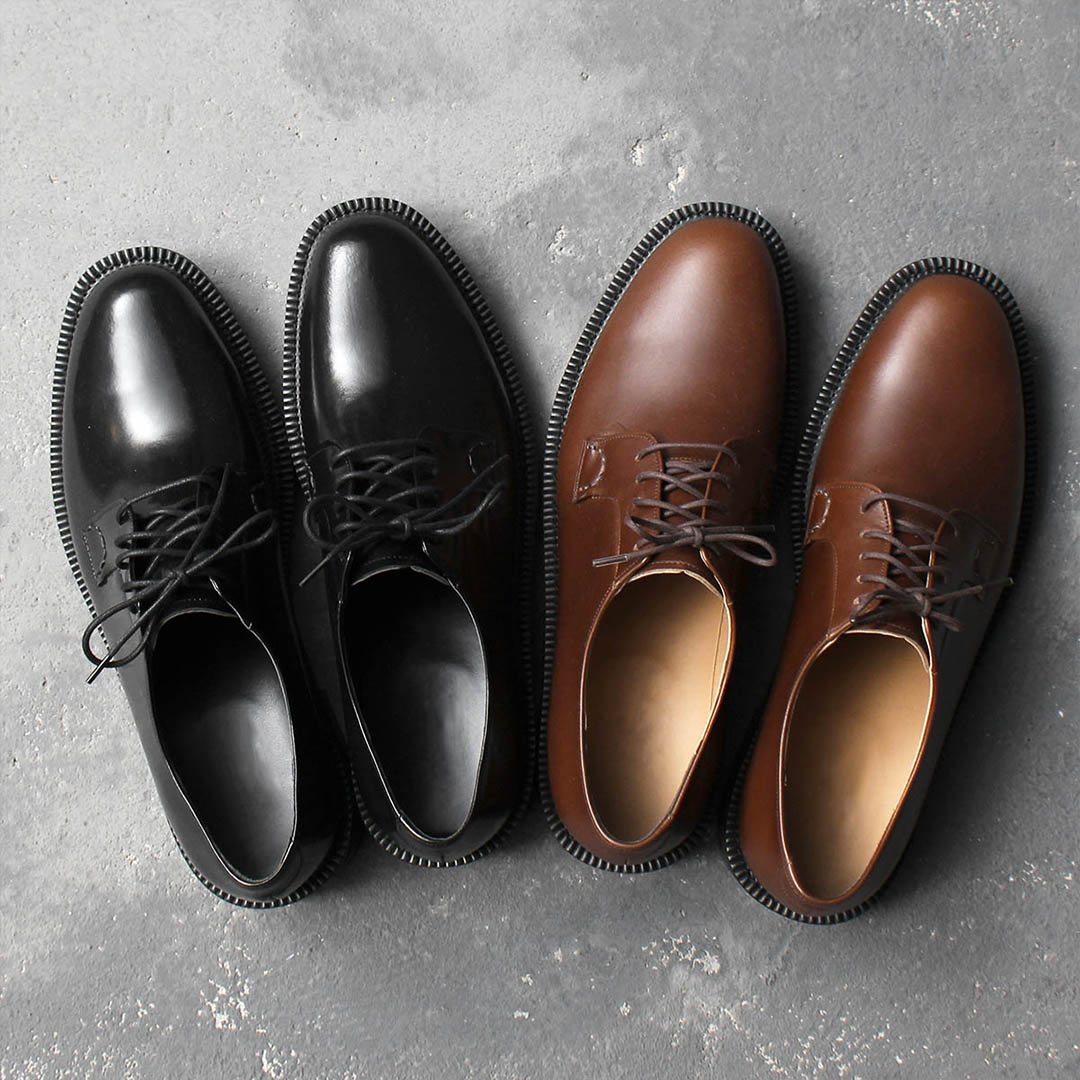 Dainite Sole Cowhide Leather Oxford Shoes 004