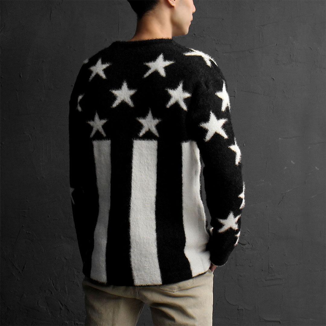 Star US Flag Mohair Knit Jumper 767