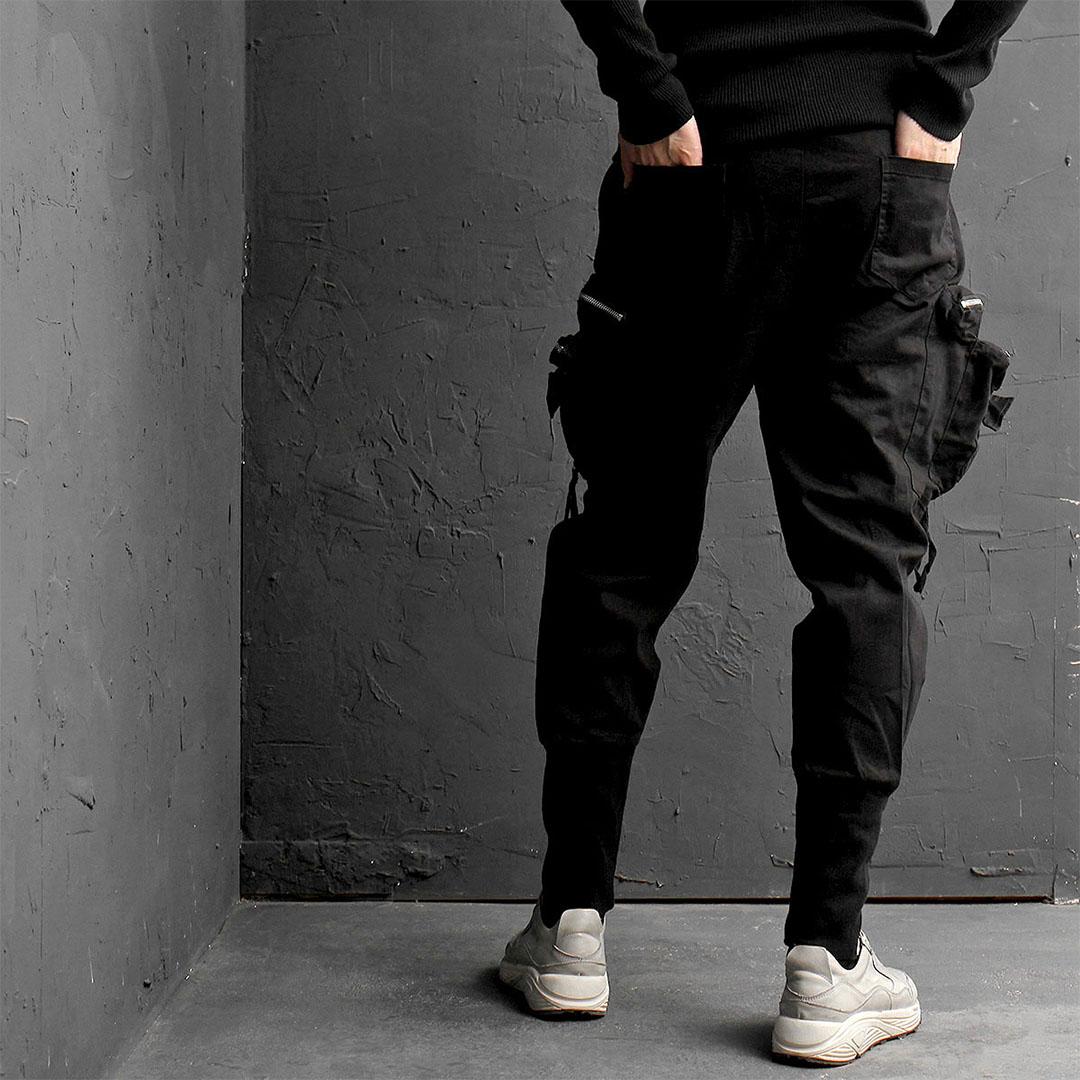 Double Zipper Cargo Pocket Jogger Pants 830