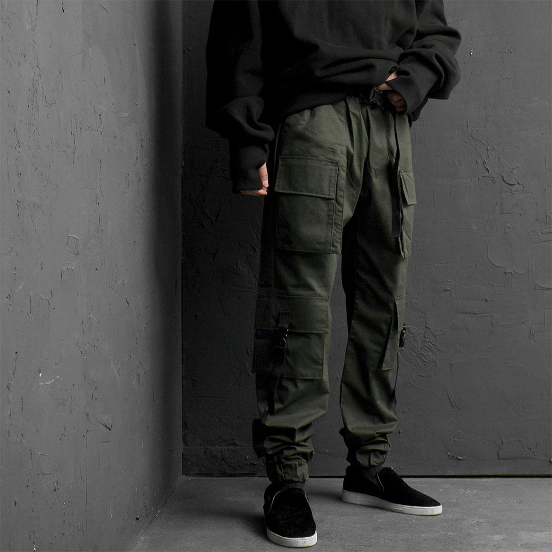 Buckle Cargo Pocket Jogger Pants 838