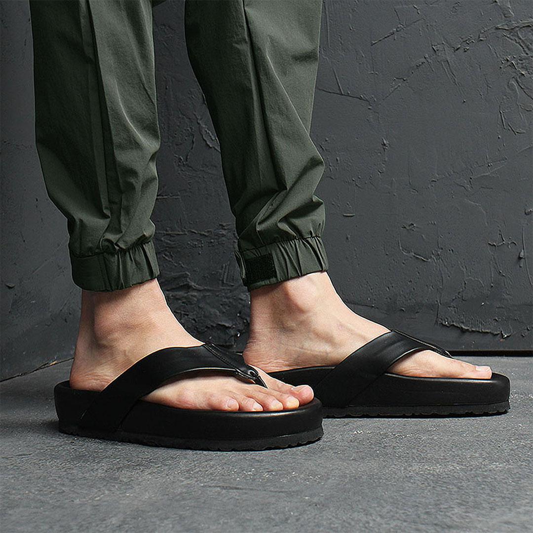 5cm Cushion Black Slipper 1077