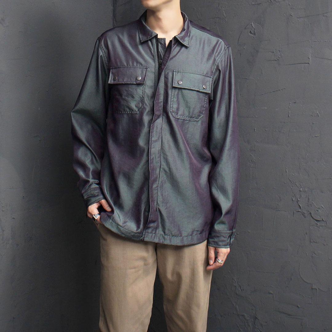 Gloss Zip Up Shirt Jacket 1895