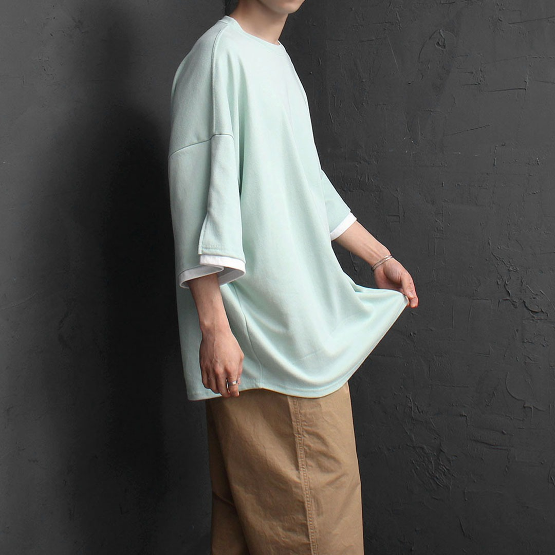 Oversized Fit Sleeve Layered Tee 1908