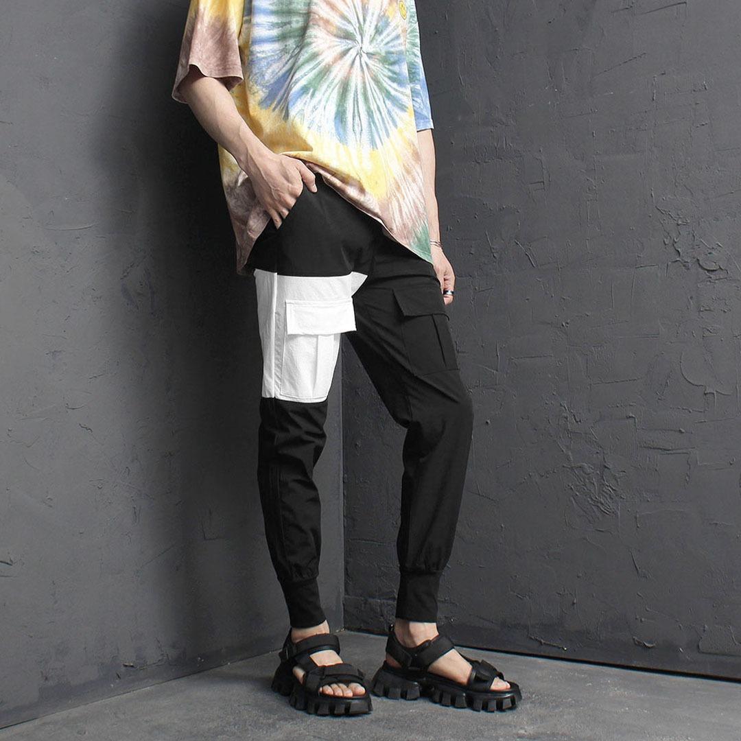 Cool Unbalanced Cargo Pocket Jogger Pants 2102