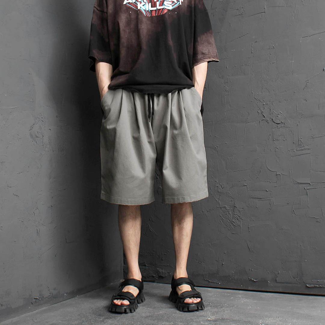 Oversized Big Elastic Waistband Shorts 2359